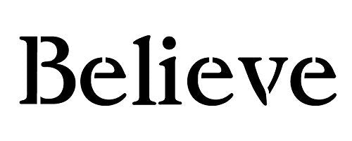 Believe Stencil by StudioR12 | Vintage Serif Horizontal Word Art - Medium 17 x 6.5-inch Reusable Mylar Template | Painting, Chalk, Mixed Media | Use for Crafting, DIY Home Decor - STCL1202_4