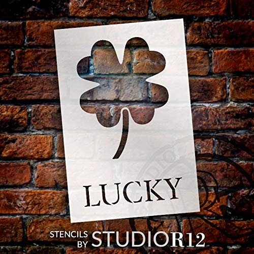 clover,   			                 DIY,   			                 Farmhouse,   			                 four,   			                 fun,   			                 Holiday,   			                 Home,   			                 Home Decor,   			                 Irish,   			                 leaf,   			                 luck,   			                 lucky,   			                 March,   			                 Quotes,   			                 shamrock,   			                 spring,   			                 St. Patrick's Day,   			                 stencil,   			                 Stencils,   			                 Studio R 12,   			                 StudioR12,   			                 StudioR12 Stencil,