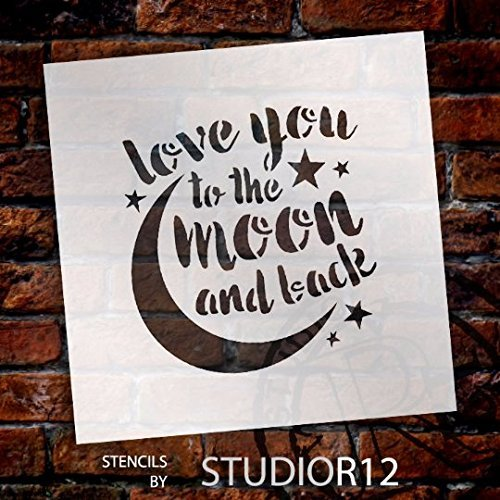 Art Stencil,   			                 Celestial,   			                 Family,   			                 Father's Day,   			                 heart,   			                 love,   			                 Moon,   			                 Quotes,   			                 Sayings,   			                 Stencils,   			                 Studio R 12,   			                 StudioR12,   			                 StudioR12 Stencil,   			                 Template,