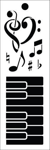 "Making Music Bookmark Art Stencil - 6"" x 2"""