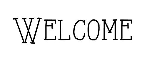 Welcome Stencil by StudioR12 | Skinny Artsy Word Art - Mini 10 x 4-inch Reusable Mylar Template | Painting, Chalk, Mixed Media | Use for Journaling, DIY Home Decor - STCL592