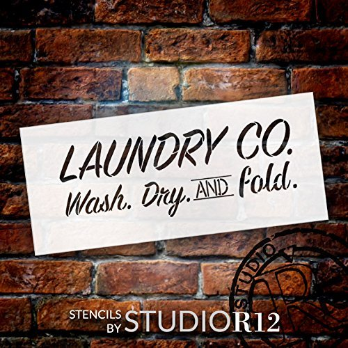 "Laundry Co. - Word Stencil - 11"" x 5"" - STCL1857_1 - by StudioR12"