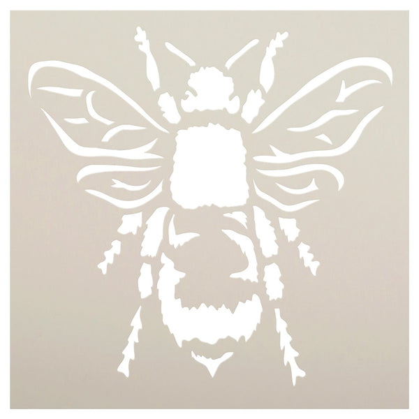 Bee Stencil by StudioR12 | Reusable Mylar Template | Use for Painting Wood, Fabric, Furniture | DIY Vintage Shabby Chic, Distressed French Country,Rustic Farm Home Decor | CHOOSE SIZE