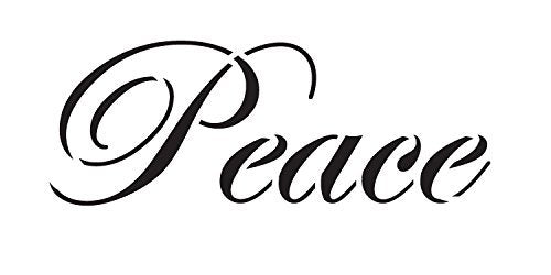 Peace Stencil by StudioR12 | Elegant Script Word Art - Mini 7.5 x 3.75-inch Reusable Mylar Template | Painting, Chalk, Mixed Media | Use for Journaling, DIY Home Decor - STCL1134_2