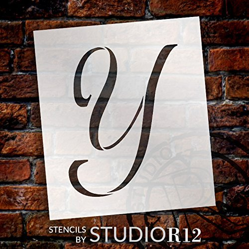 "Graceful Monogram Stencil - Y - 12"" - STCL1925_5 - by StudioR12"