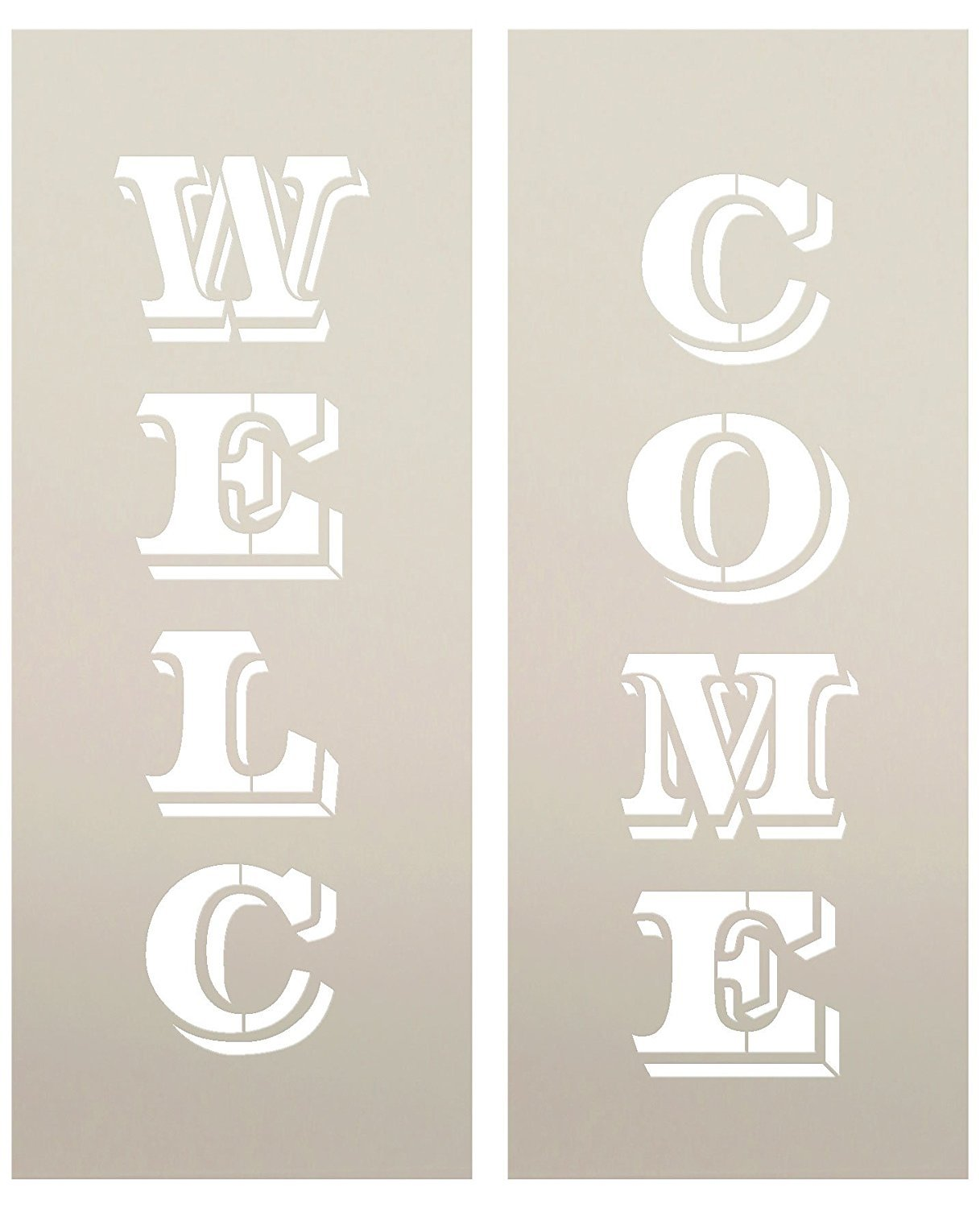 "Large 48"" WELCOME STENCIL for Painting on Wood 