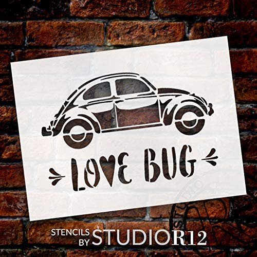Art Stencil,   			                 beetle,   			                 bug,   			                 cruise,   			                 friend,   			                 fun,   			                 Home,   			                 Home Decor,   			                 insect,   			                 love,   			                 love bug,   			                 marriage,   			                 Mixed Media,   			                 Sayings,   			                 side,   			                 side view,   			                 stencil,   			                 Stencils,   			                 Studio R 12,   			                 StudioR12,   			                 StudioR12 Stencil,   			                 summer,   			                 travel,   			                 valentine,   			                 valentine's day,   			                 Vintage,   			                 voltswagon,   			                 wedding,
