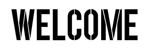 "Welcome - Modern Headline - Horizontal - Word Stencil - 15"" x 5"" - STCL1181_3"