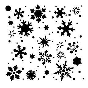 Snowflakes Stencil by StudioR12 | Winter Snow Pattern - Mini 4 x 4-inch Reusable Mylar Template | Painting, Chalk, Mixed Media | Use for Journaling, DIY Home Decor - STCL727