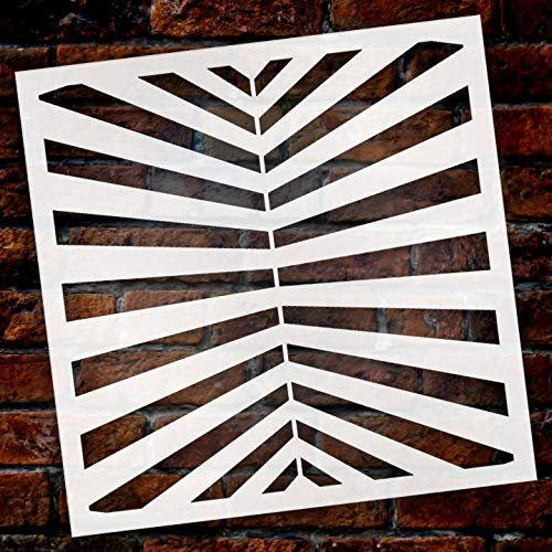 Fun with Stripes Multimedia Perspective Stripe Stencil StudioR12   Wood  Sign   Reusable Mylar Template   Wall Decor   Multi Layering Art Project    ...