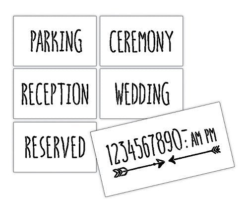Wedding Reception Sign Stencils by StudioR12 - For Painting Wood, Rustic or Chalkboard Decorations -Welcome and Direct your Wedding Guests - Create the Perfect Ceremony Sign- 6pc Set