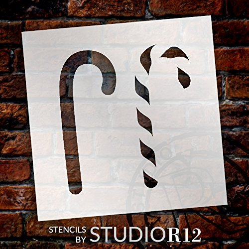 Art Stencil,   			                 candy,   			                 candy cane,   			                 Christmas,   			                 Christmas & Winter,   			                 Holiday,   			                 layered stencil,   			                 Mixed Media,   			                 Multimedia,   			                 Pattern,   			                 Stencils,   			                 Studio R 12,   			                 StudioR12,   			                 StudioR12 Stencil,   			                 Template,