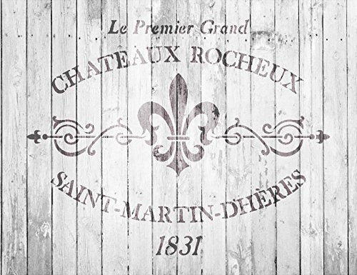 Chateaux Rocheux Saint-Martin-Dheres Stencil by StudioR12 | French Stone Manor Art Reusable Mylar Template | Painting, Chalk, Mixed Media | Wall Art |  SELECT SIZE | STCL2330