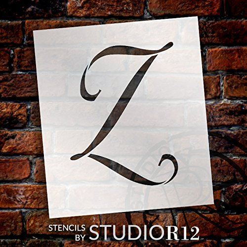 "Graceful Monogram Stencil - Z - 12"" - STCL1926_5 - by StudioR12"