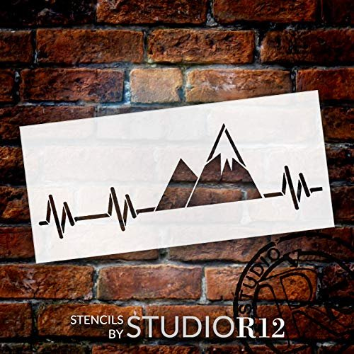 adventure,   			                 Art Stencil,   			                 cabin,   			                 camp,   			                 camping,   			                 Country,   			                 heartbeat,   			                 Home,   			                 Home Decor,   			                 horizontal,   			                 mountain,   			                 nature,   			                 outdoor,   			                 pulse,   			                 snow,   			                 stencil,   			                 Stencils,   			                 Studio R 12,   			                 StudioR12,   			                 StudioR12 Stencil,   			                 Template,   			                 vacation,   			                 winter,