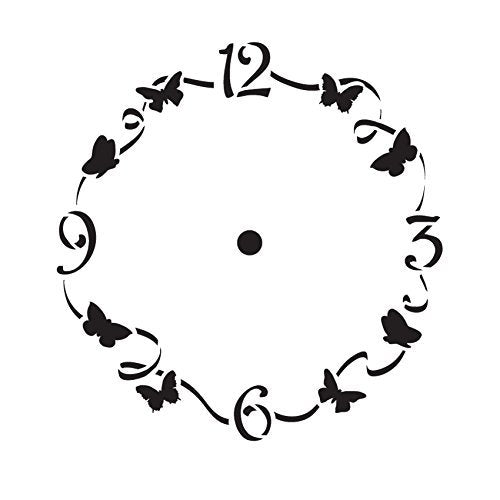 "6"" Spring Time Clock Stencil"