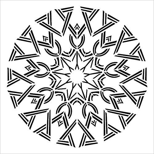 Mandala - Deco - Complete Stencil by StudioR12 | Reusable Mylar Template | Use to Paint Wood Signs - Pallets - Pillows - Wall Art - Floor Tile - Select Size