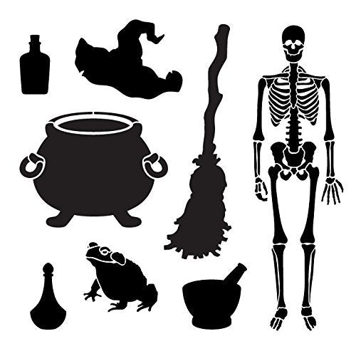 "Halloween Brew Art Elements Stencil - 12"" x 12"" - STCL1168_1"
