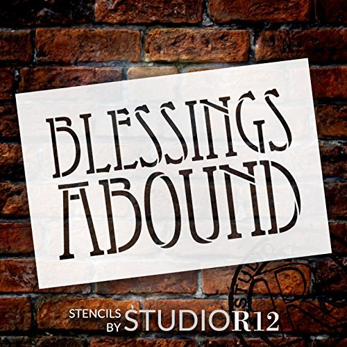 bless,   			                 blessed,   			                 blessings,   			                 Christian,   			                 Faith,   			                 Inspiration,   			                 Inspirational Quotes,   			                 Stencils,   			                 Studio R 12,   			                 StudioR12,   			                 StudioR12 Stencil,   			                 Template,