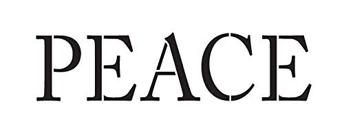 "Peace - Word Stencil - Simple - 14"" X 6"" - STCL1148_3"
