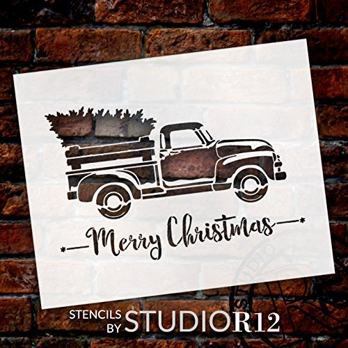 antique Truck,   			                 Christmas,   			                 Christmas & Winter,   			                 Farmhouse,   			                 Holiday,   			                 Merry Christmas,   			                 old truck,   			                 Red,   			                 Simple,   			                 Stencils,   			                 Studio R 12,   			                 StudioR12,   			                 StudioR12 Stencil,   			                 Template,   			                 truck,   			                 Vintage,