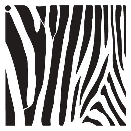 Zebra Stripes Stencil by StudioR12 | Fun Wild Animal Pattern Art - Large 18 x 18-inch Reusable Mylar Template | Painting, Chalk, Mixed Media | Use for Wall Art, DIY Home Decor - STCL633_5