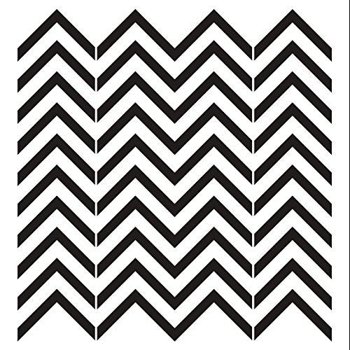 Chevrons Stencil by StudioR12 | Simple Skinny RepeatingPattern Art - Large 15 x 15-inch Reusable Mylar Template | Painting, Chalk, Mixed Media | Use for Wall Art, DIY Home Decor - STCL704_4