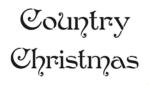 Country Christmas Stencil by StudioR12 | Elegant Christmas Word Art - Mini 7 x 4-inch Reusable Mylar Template | Painting, Chalk, Mixed Media | Use for Journaling, DIY Home Decor - STCL529_1
