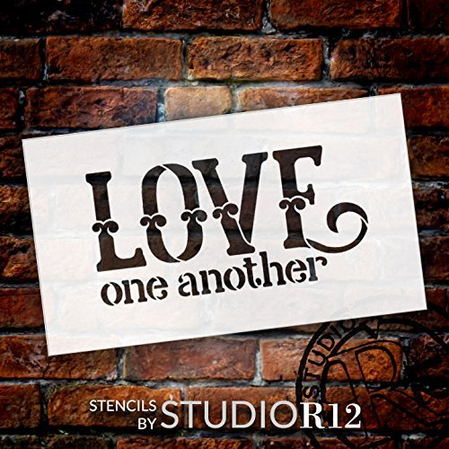"Love One Another - Celtic Style - Word Art Stencil - 19"" x11"" - STCL1839_5 - by StudioR12"