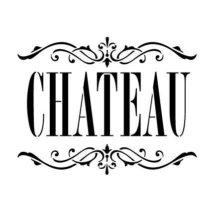 "Chateau Word Art by StudioR12 | French Elegant and Chic - Reusable Mylar Template | Painting, Chalk, Mixed Media | Wall Art, DIY Home Decor - STCL912_3 - SELECT SIZE (12"" x 12"")"