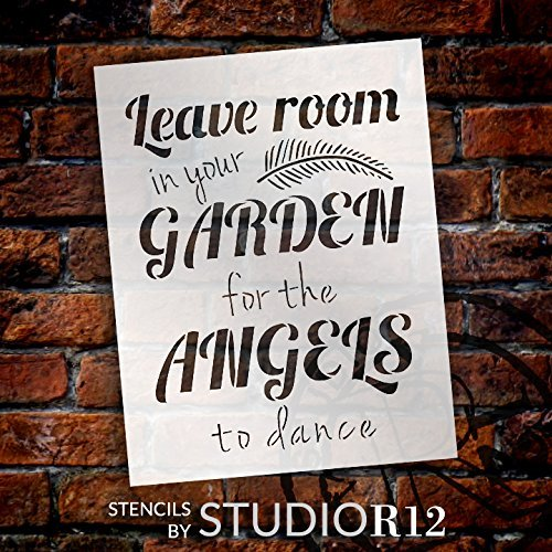 "Garden Angels - Word Art Stencil - 8"" x 10"" - STCL1827_1 - by StudioR12"