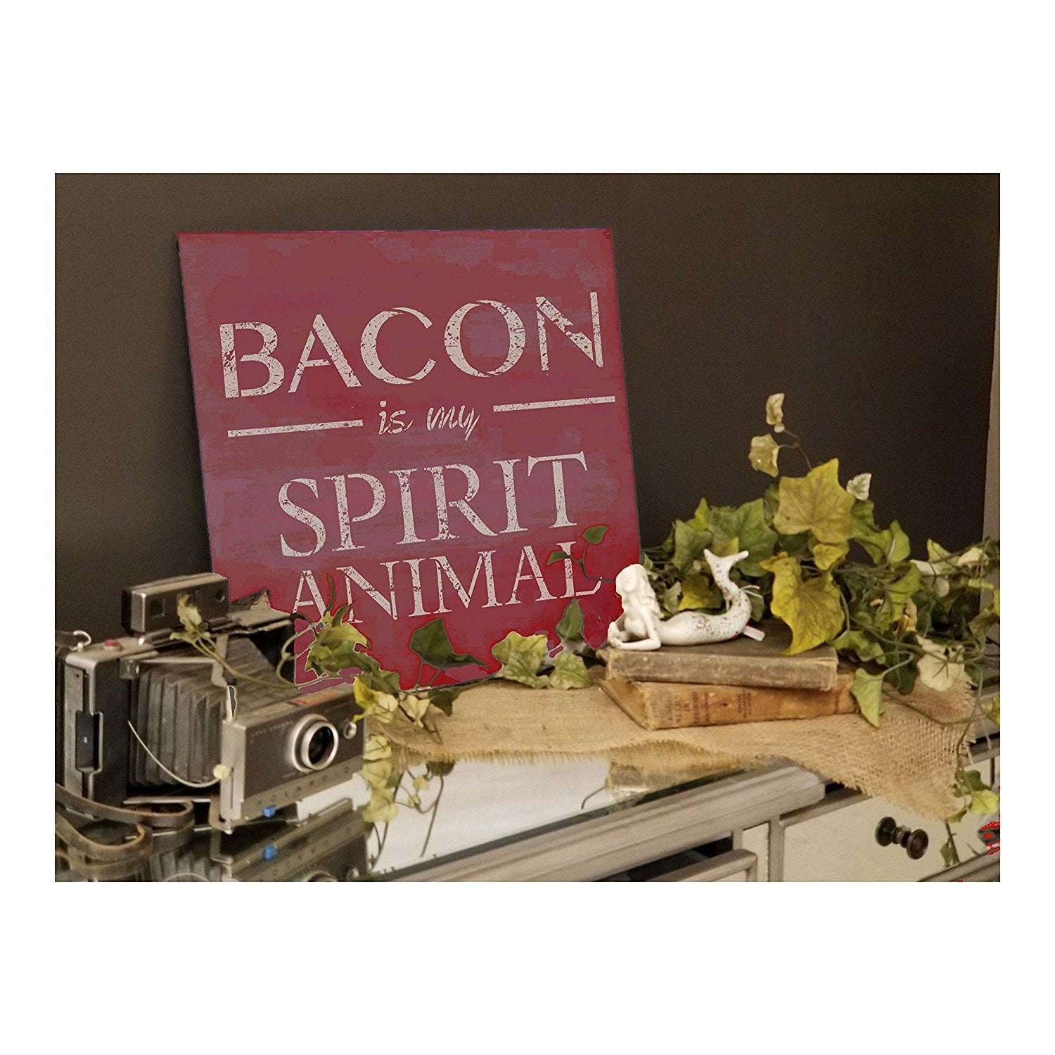 Bacon Is My Spirit Animal Stencil by StudioR12 | Breakfast Food Word Art - Reusable Mylar Template | Painting, Chalk, Mixed Media | Use for Wood Sign, Kitchen, Restaurant, DIY Home Decor SELECT SIZE
