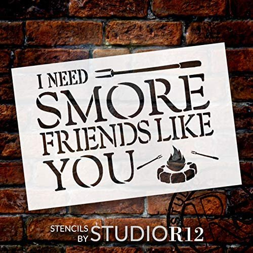 adventure,   			                 Art Stencil,   			                 cabin,   			                 Camp,   			                 camper,   			                 campfire,   			                 campground,   			                 Camping,   			                 Campsite,   			                 chocolate,   			                 Country,   			                 Farmhouse,   			                 fire,   			                 fork,   			                 friend,   			                 friends,   			                 friendship,   			                 Home,   			                 Home Decor,   			                 Kitchen,   			                 man cave,   			                 marshmallow,   			                 outdoor,   			                 s'more,   			                 Sayings,   			                 stencil,   			                 Stencils,   			                 Studio R 12,   			                 StudioR12,   			                 StudioR12 Stencil,   			                 vacation,