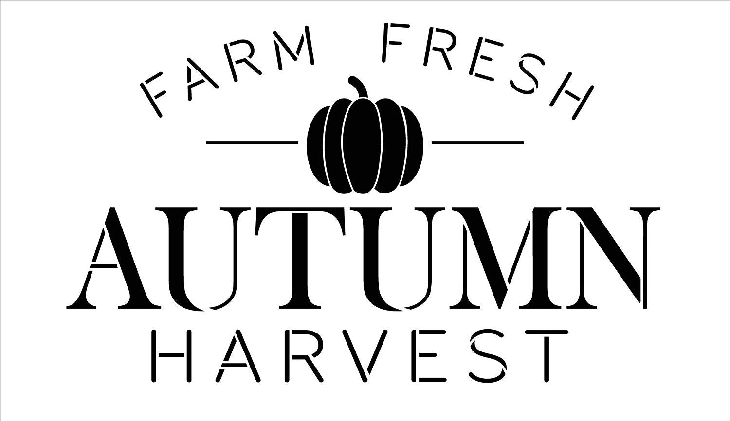 Farm Fresh Autumn Harvest Pumpkin Stencil by StudioR12 | Wood Signs | Word Art Reusable | Family Dining Room | Painting Chalk Mixed Media Multi-Media | DIY Home - Choose Size