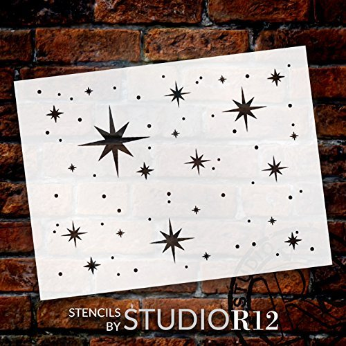 Twinkle Stars Stencil by StudioR12 | Fun Elegant - Reusable Mylar Template | Painting, Chalk, Mixed Media | Use for DIY Home Decor - STCL578 | Choose Size | STCL578