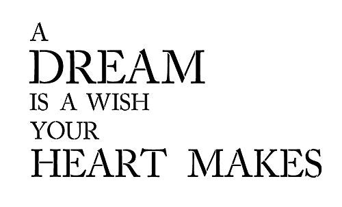 "A Dream is a Wish - Word Stencil - 16.5"" X 10"" - STCL1154_1"