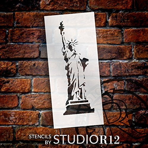 Statue of Liberty Stencil by StudioR12 | American Icon Art - Medium 6 x 13.5-inch Reusable Mylar Template | Painting, Chalk, Mixed Media | Use for Crafting, DIY Home Decor - STCL1119_2