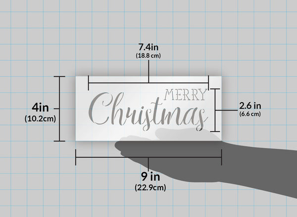 Merry Christmas Stencil by StudioR12 | Trendy Rustic Script Word Art - Reusable Mylar Template | Painting, Chalk, Mixed Media | Use for Crafting, DIY Home Decor - STCL1397 … SELECT SIZE