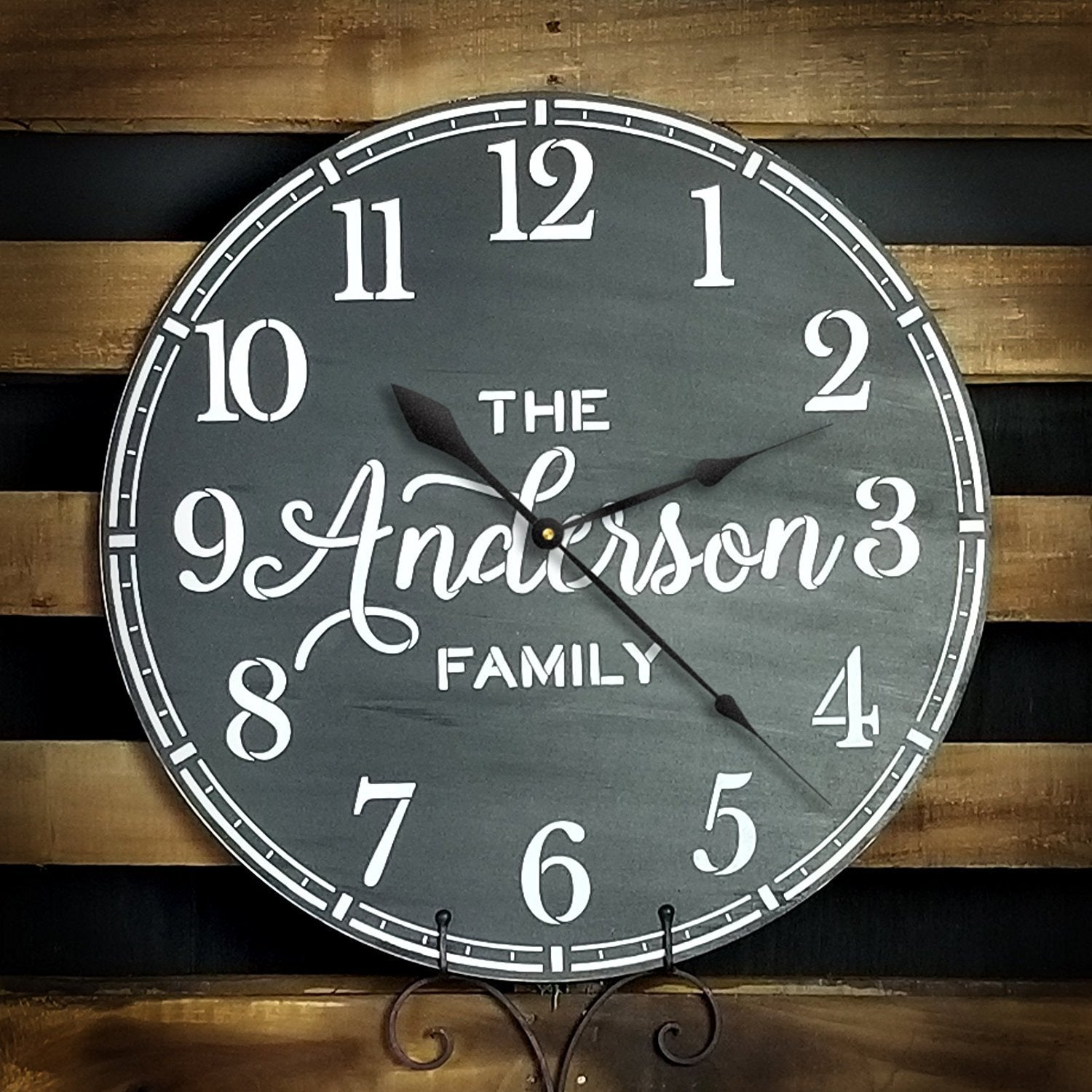 "Coffee House Clock Face Stencil by StudioR12 | Classic Numbers Clock Art - Reusable Mylar Template | Painting, Chalk, Mixed Media | DIY Decor - STCL2331 - SELECT SIZE (18"" Diameter)"