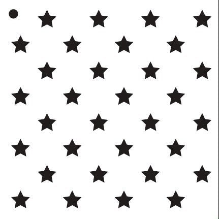"1/2"" Stars Stencil by StudioR12 