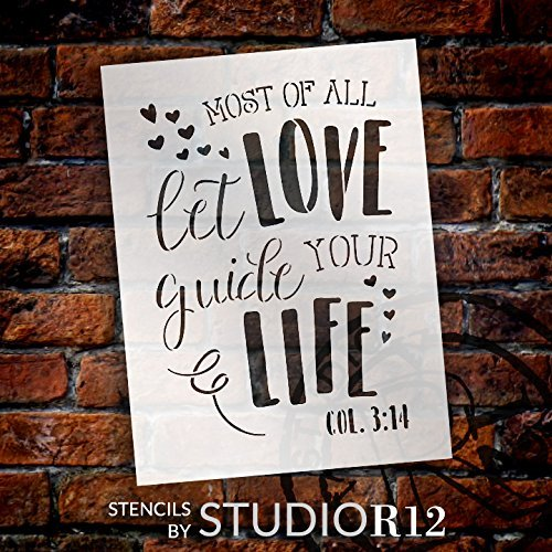 "Most Of All - Word Art Stencil - 9"" x 12"" - STCL1898_1 - by StudioR12"