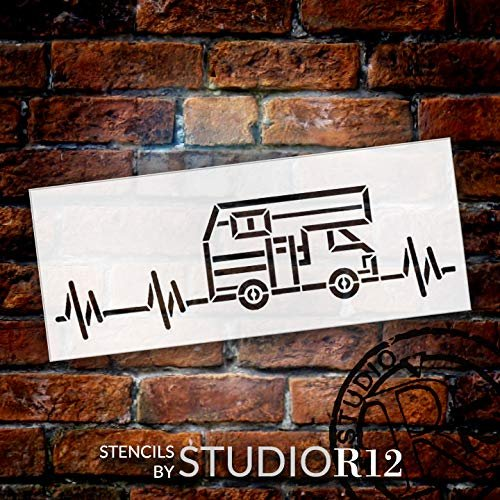 adventure,   			                 Art Stencil,   			                 camp,   			                 camper,   			                 campfire,   			                 campground,   			                 Camping,   			                 Campsite,   			                 DIY sign,   			                 DIY stencil,   			                 heartbeat,   			                 holiday,   			                 Home,   			                 Home Decor,   			                 motor home,   			                 nature,   			                 outdoor,   			                 pulse,   			                 RV,   			                 stencil,   			                 Stencils,   			                 Studio R 12,   			                 StudioR12,   			                 StudioR12 Stencil,   			                 vacation,
