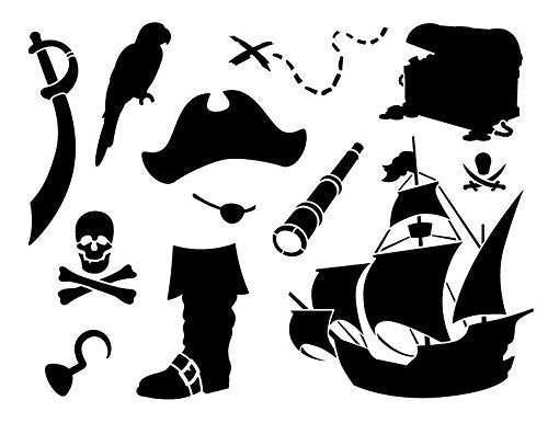 "A Pirate's Life For Me Art Elements Stencil - 8-1/2"" x 11"" - STCL1165_1"