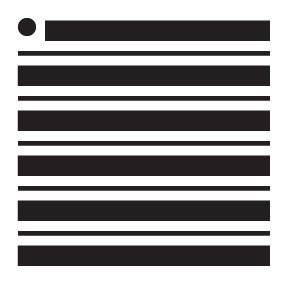 "Thick and Thin Stripes Mini Pattern Stencil - 4"" x 4"""