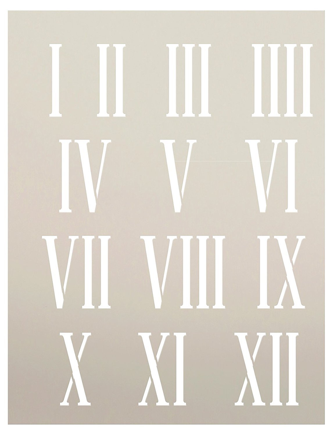 "Clock Numerals Stencil by StudioR12 | Roman Numbers Elements - Reusable Mylar Template | Painting, Chalk, Mixed Media | Use for Journaling, DIY Home Decor - STCL185 - SELECT SIZE (7.5"" x 10"")"