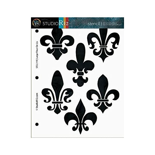 Art Stencils,   			                 Mixed Media,   			                 Multimedia,   			                 Pattern,   			                 Stencils,   			                 Studio R 12,   			                 StudioR12,   			                 StudioR12 Stencil,   			                 Template,