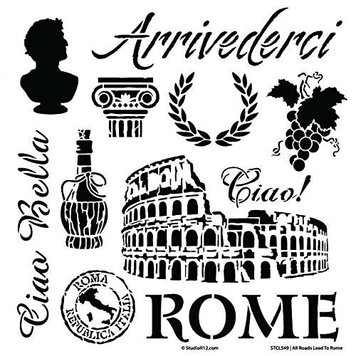 All Roads Lead to Rome Stencil - 12