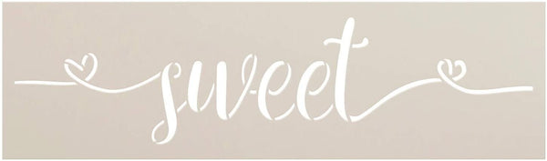 Sweet Cursive Script Word Stencil by StudioR12 | DIY Inspiration Quote Home Decor Gift | Craft & Paint Wood Sign Reusable Mylar Template | Select Size