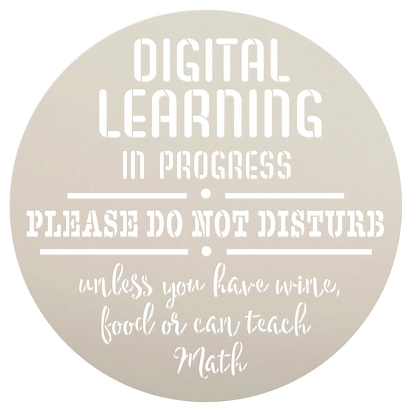 Personalized Digital Learning in Progress Stencil by StudioR12 | DIY Virtual Learning & Homeschool Decor or Wood Signs | Select Size | PRST5389