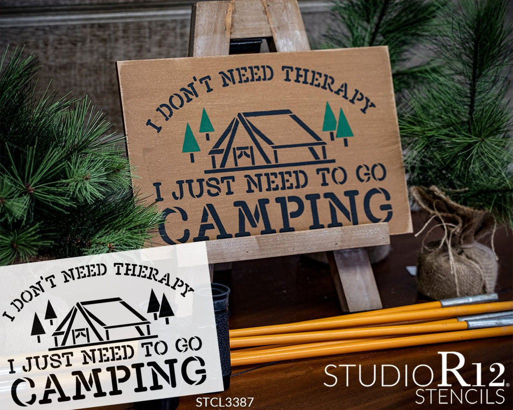 adventure,   			                 Art Stencil,   			                 Camp,   			                 camper,   			                 campfire,   			                 campground,   			                 Camping,   			                 Campsite,   			                 cottage,   			                 country,   			                 Home,   			                 Home Decor,   			                 lake,   			                 man cave,   			                 outdoor,   			                 relax,   			                 rustic,   			                 Sayings,   			                 stencil,   			                 Stencils,   			                 Studio R 12,   			                 StudioR12,   			                 StudioR12 Stencil,   			                 tent,   			                 therapy,   			                 tree,   			                 typewriter,   			                 vacation,